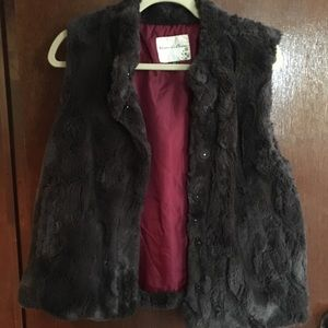 Super soft fur vest! Blossom &clover (from Macy's)